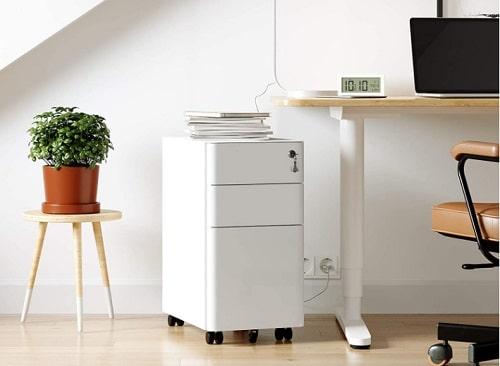 caisson de bureau blanc et moderne